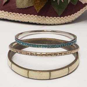 3 Vintage to Now Bangle Bracelets